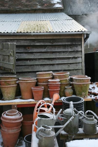 December icy pots